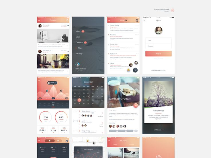 iPhone 6 Phoenix UI #ui #kit #iPhone6 #iOS #design