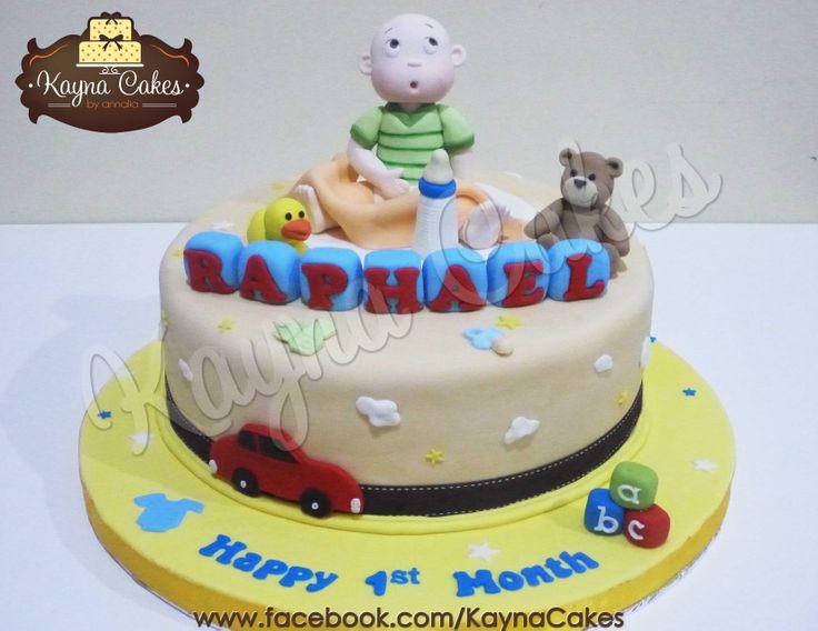 Baby Raphael 1st month huge 30cm cake