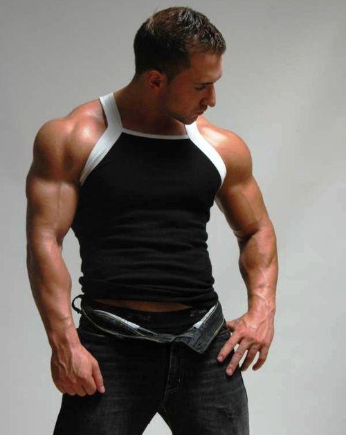 : Sleeveless Men, Men Underwear, Tanks Tops, Men Fashion, Muscle Men, Muscle Models, Male Muscle, Motivation Muscle, Big Men