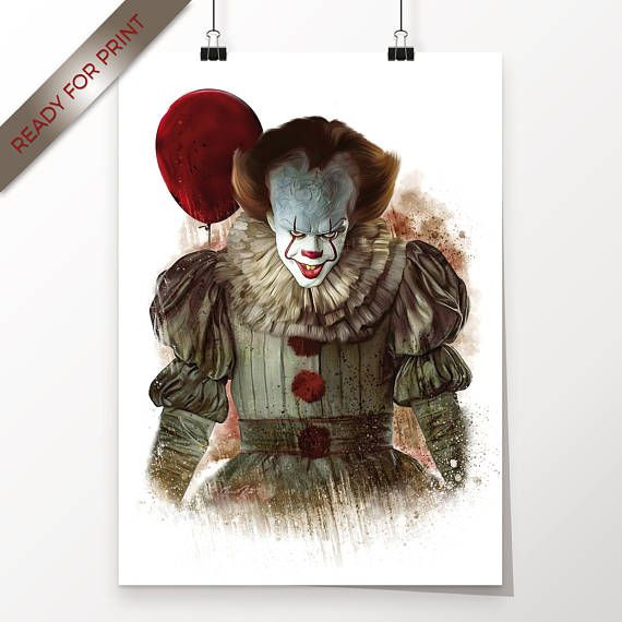 Clown Pennywise Bill Skarsgard Stephen Kings Es Kunstwerk