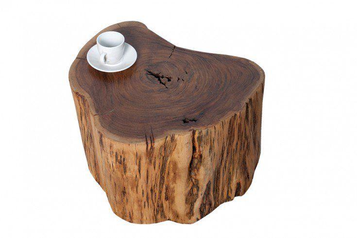 Massiver Couchtisch Goa 60cm Akazie Baumstamm Mit Rollen Unikat Couchtisch Baumstamm Baumstamm Hocker Couchtisch Massivholz
