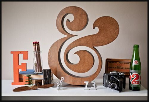 """Look at this gorgeous lady! Ugmonk wood ampersand 18"""". $299"""