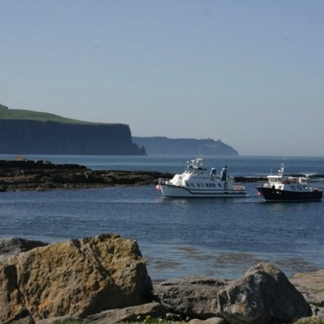 Doolin pier..ferries to the Aran islands 10 minutes drive from Ballinsheen House