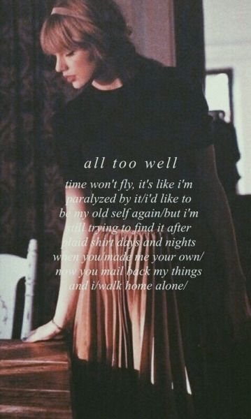 """All Too Well"" es mi canción favorita de Taylor Swift. Es muy emocional ❤️"