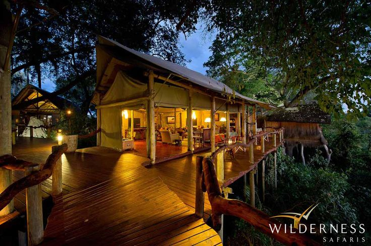 Tubu Tree Camp - A family unit consisting of two adjoining tents with separate bathrooms and a shared lounge will be available from July 2013. #Safari #Africa #Botswana #WildernessSafaris