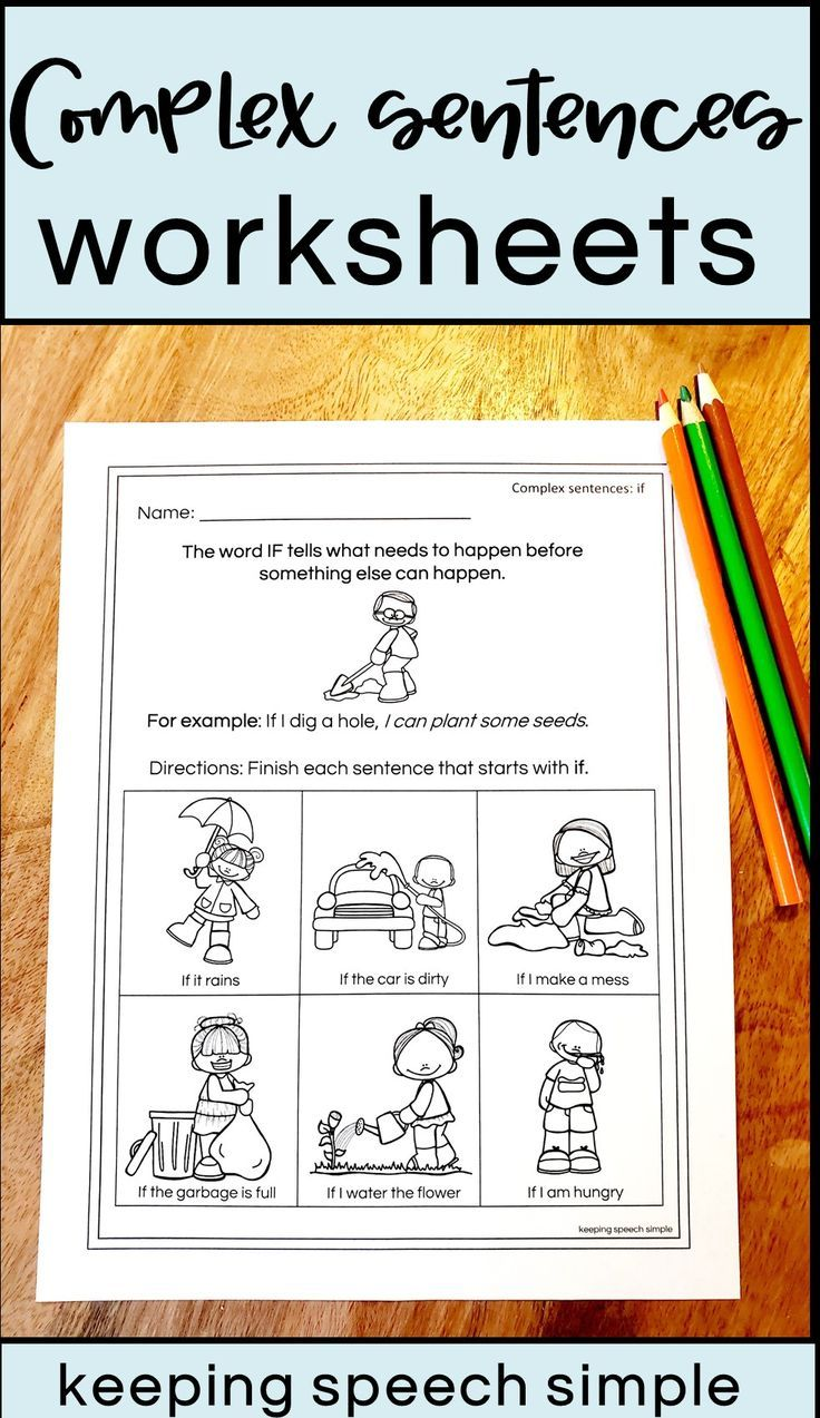 Pin On Keeping Speech Simple On Tpt In 2020 Complex Sentences Worksheets Speech Therapy Activities Complex Sentences [ 1273 x 736 Pixel ]