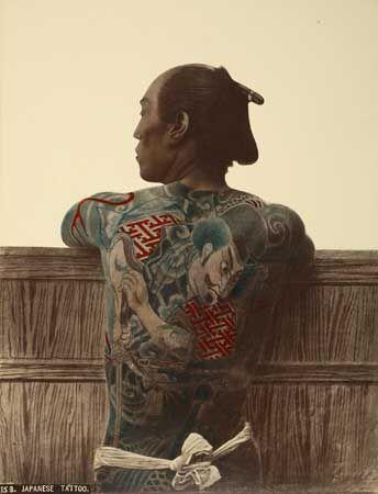 Kusakabe Kimbei   Man with tattoes   1889 (ca)     Albumen print