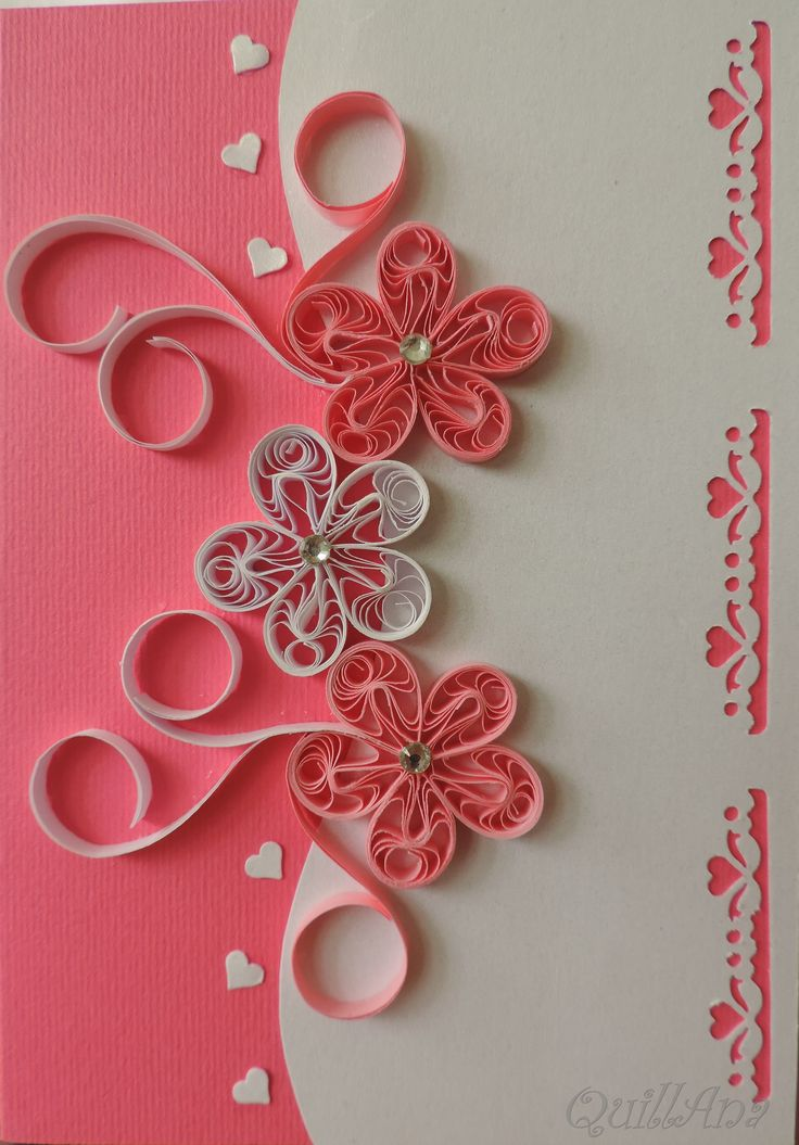 Quilling cards designs images for Best quilling designs