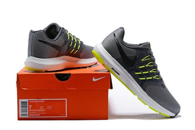Brand New Nike Run Swift Men s Running Shoes Grey Green 908989-007 ... fb732b119
