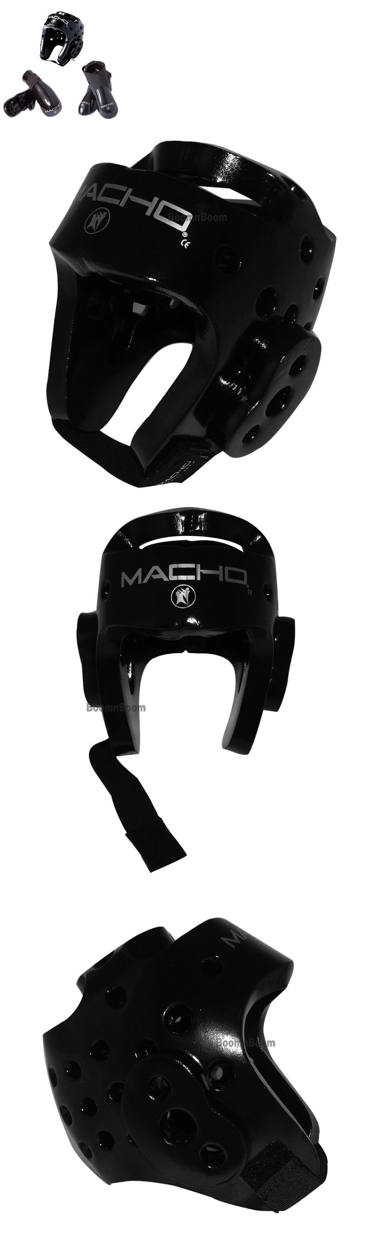Head Gear 179780: New Macho Dyna Taekwondo,Karate Mma Headgear, Hand, Foot Sparring Gear Set-Black -> BUY IT NOW ONLY: $80.75 on eBay!
