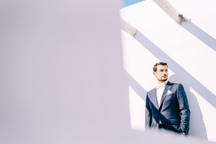 groom portrait before the wedding in Sifnos