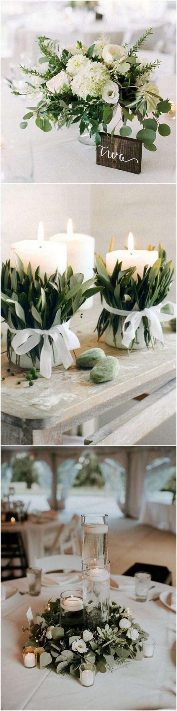 Sieht das nicht zauberhaft aus? Die Blockkerzen mit den Olivenzweigen? Eine so effektvolle und schöne Idee.