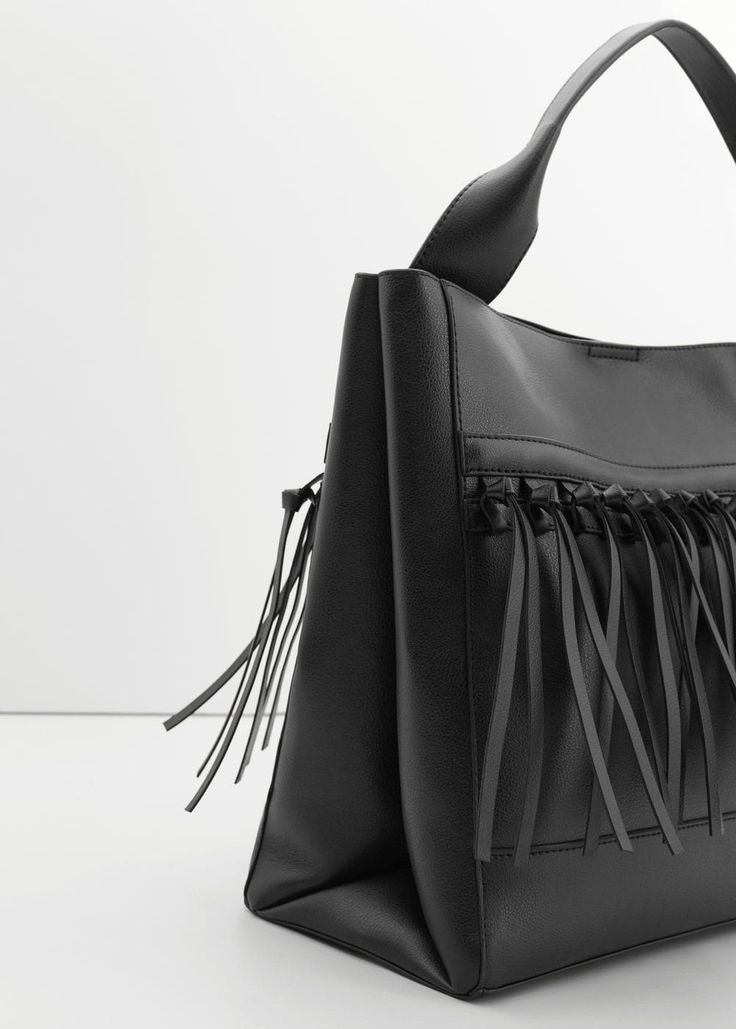 Fringe hobo bag - f foHandbags Women | MANGO USA