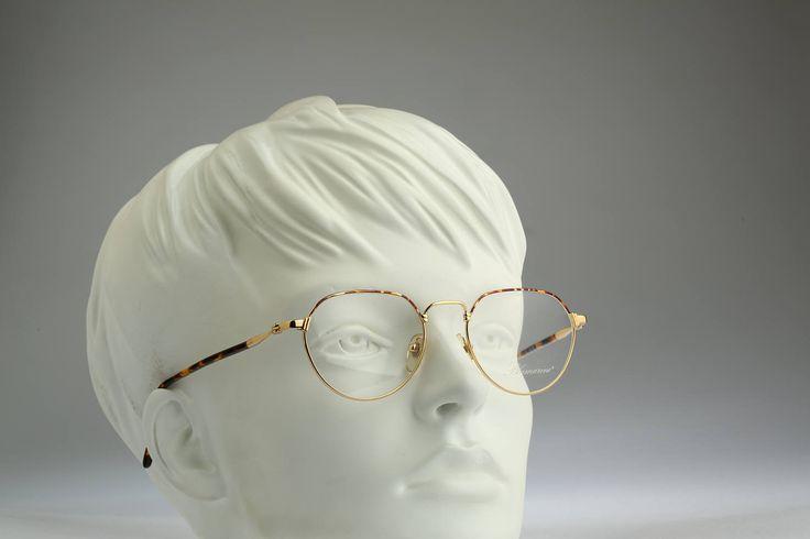 Blumarine Mod  BM 95 GL 18Kt Gold plated  / Vintage eyeglasses and sunglasses / NOS / 90s optical frame by CarettaVintage on Etsy