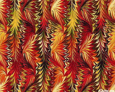 Bountiful - Feather Decor - Flame Red - wow!