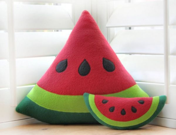 Awesome food pillow! Watermelon is one of my favorites! Will look nice on the chairs or the couch. #MySuiteSetupSweepstakes