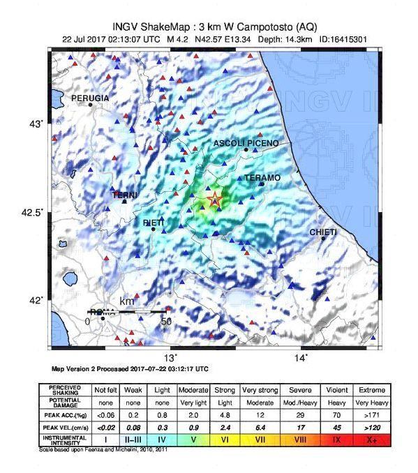 L'evento sismico di questa notte ha interessato l'estremità meridionale dell'area attivata dalla sequenza sismica di Amatrice-Norcia-Visso ed è avvenuto