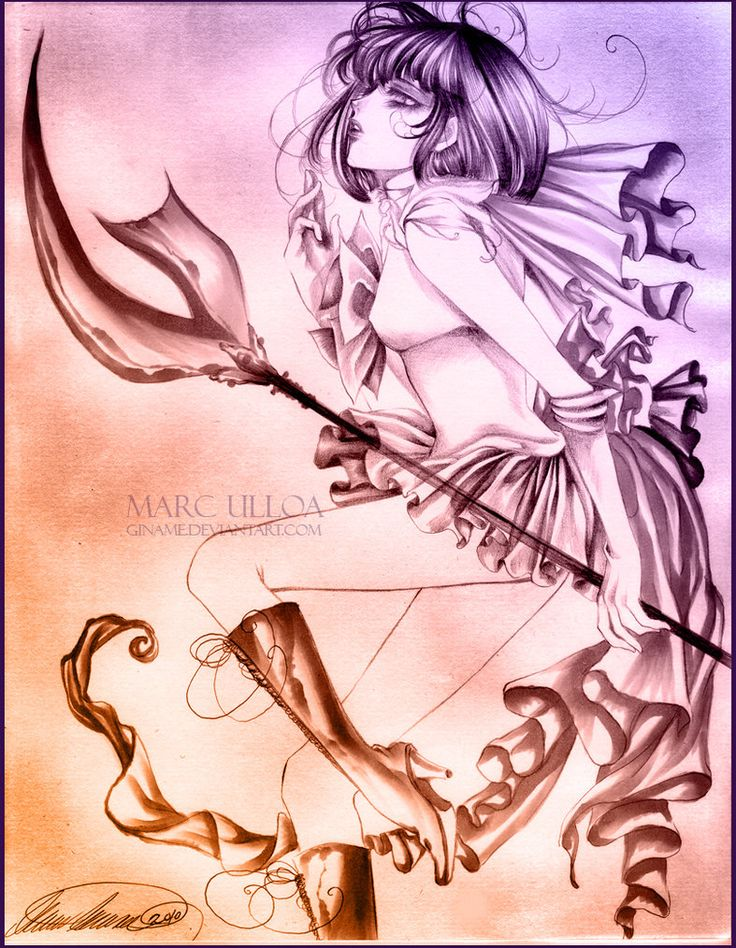 Sailor Saturn Sketch II by ~Giname on deviantART