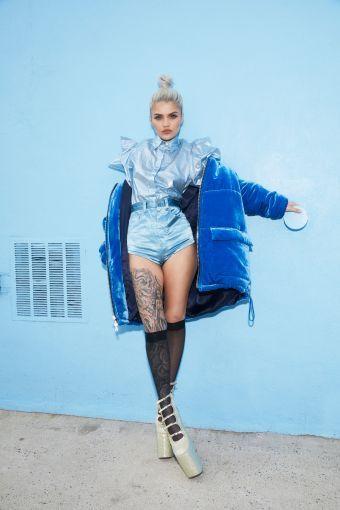 Amina Blue Kanye West Yeezy Petite Model Photos Profile