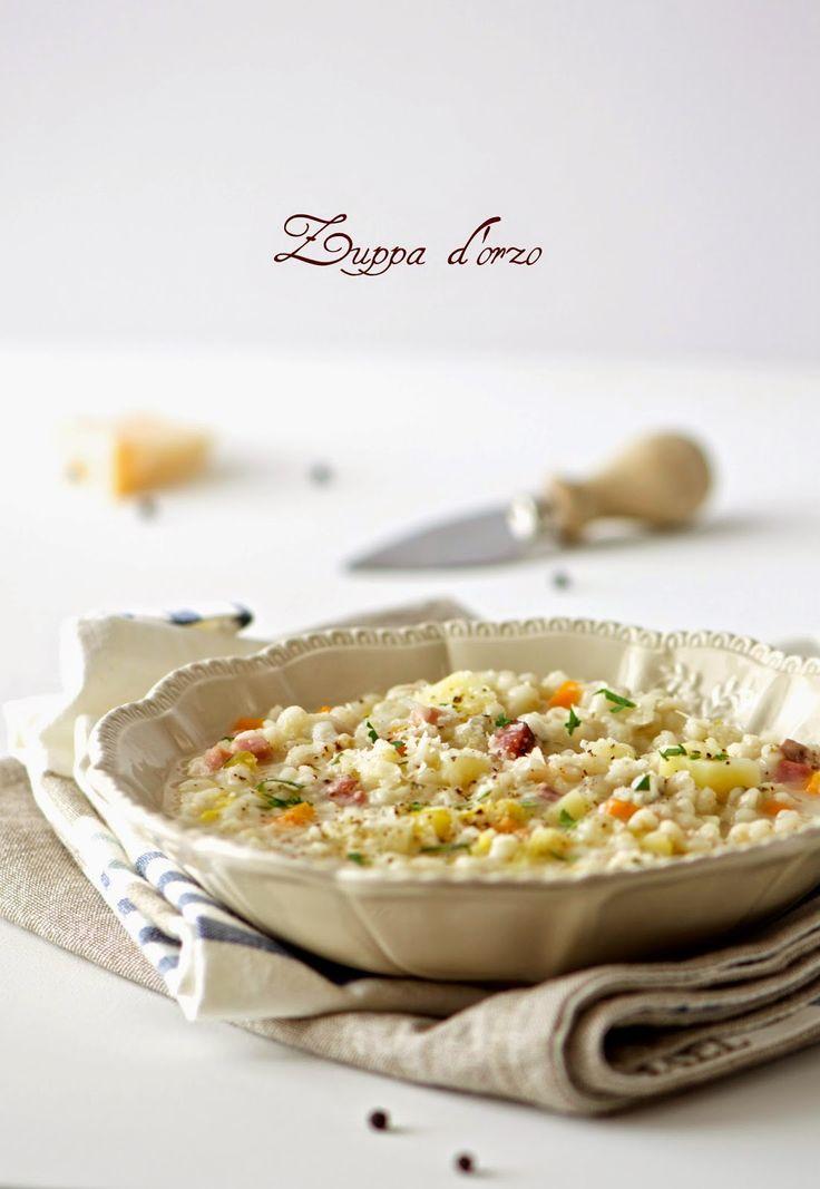 la pancia del lupo: Zuppa d'orzo con verdure