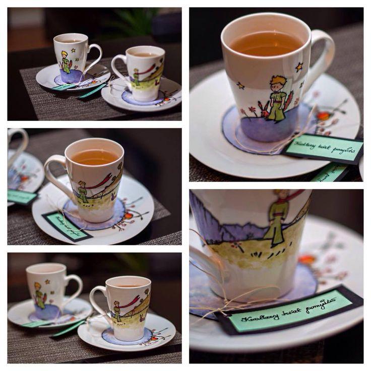 Mały Książę - zestaw śniadaniowy: kubek i spodek