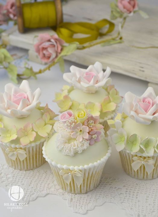 Pretty Assorted Floral Cupcakes