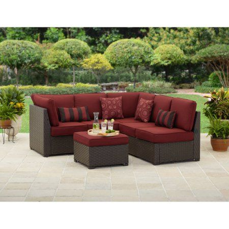Better Homes and Gardens Rush Valley 3-Piece Outdoor Sectional Sofa Set, Seats 5 - Walmart.com