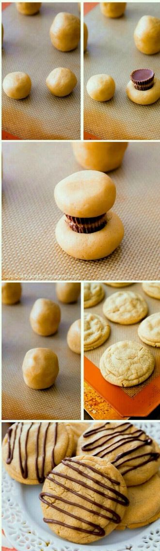 Easily make rolo cookies