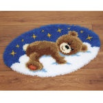 Sleeping Bear latch hook rug