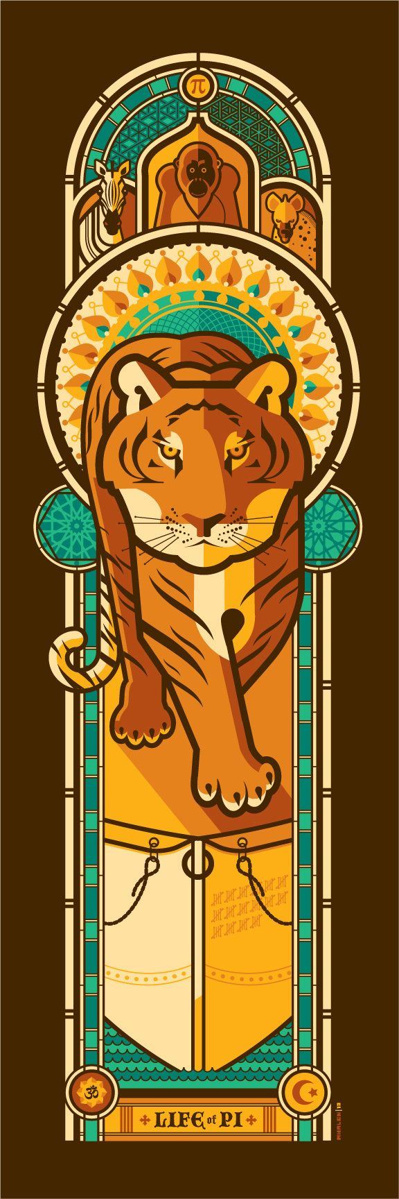 Life of Pi by artist Tom Whalen.  Creative Art Inspired by Oscar's Best Picture Nominees - My Modern Metropolis