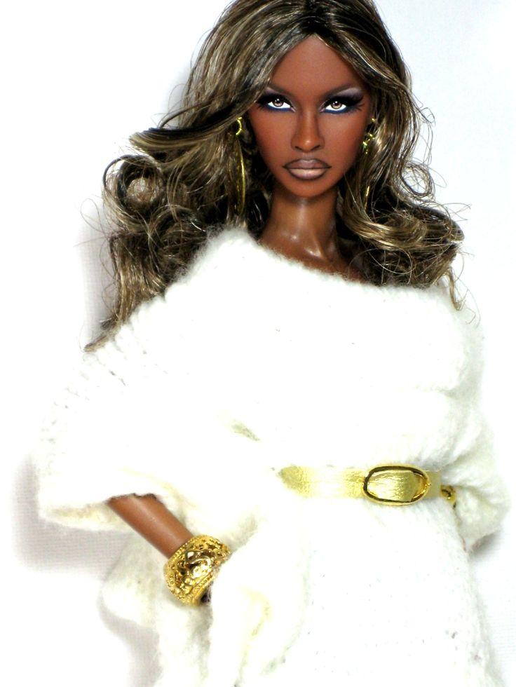 Fashion Royalty Main Attitude Adele Makeda repaint reroot by Claudia