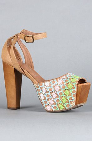 The Perfect Wooden Shoe in Pastel Tan by Jeffrey Campbell