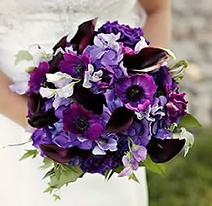 beautiful purple wedding bouquet