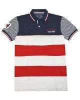 Tommy Hilfiger Men Custom Fit Country USA Pieced Polo - Visit to see more