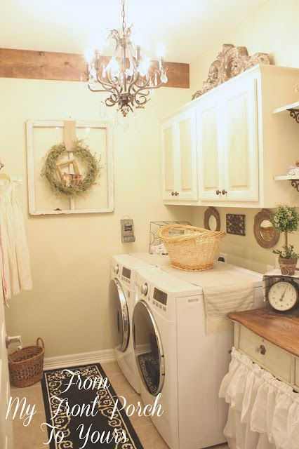 A Stroll Thru Life  home decorating  Country laundry rooms Laundry Room Laundry