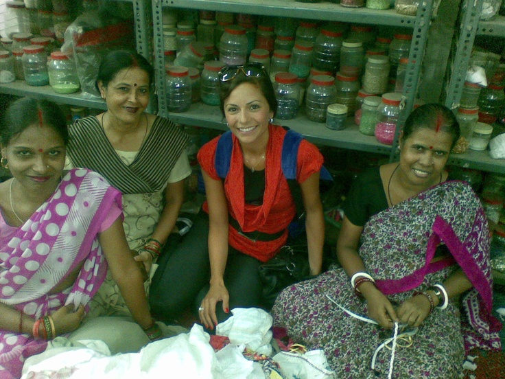 India with my girls!