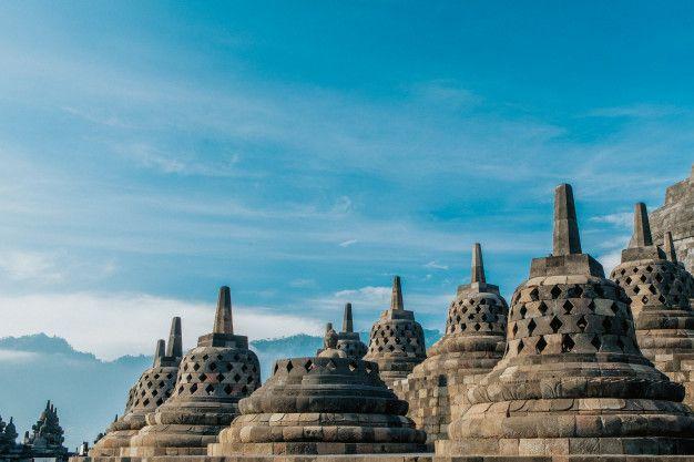 The Beauty Of The Borobudur Stupa Is Seen Closer Borobudur Stupa Borobudur Temple