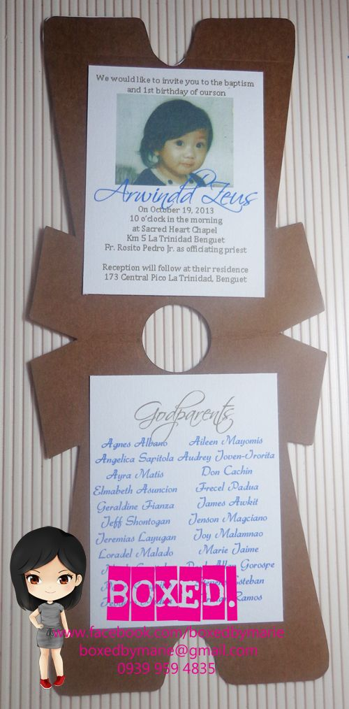 Boy Invitation with perfect invitations layout