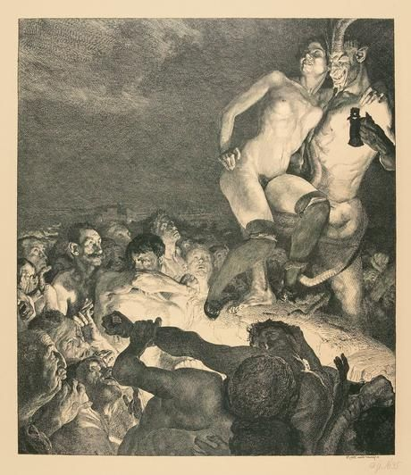 Remembering Otto Greiner: 460_Der_Teufel_zeigt_das_Weib_dem_Volke,_III_des_Max_Klinger_gewidmeten_Zyklus_Vom_Weib,_lithograph,_1898,_Vogel_7...