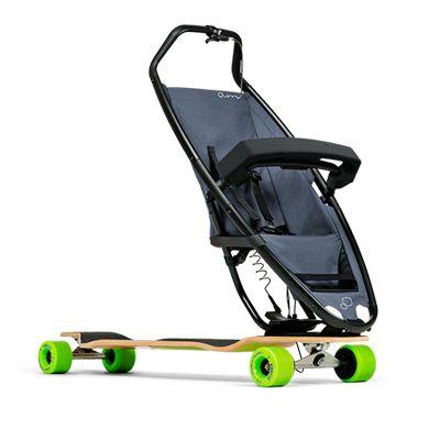 Quinny longboardstroller – fusing longboarding & strollers.
