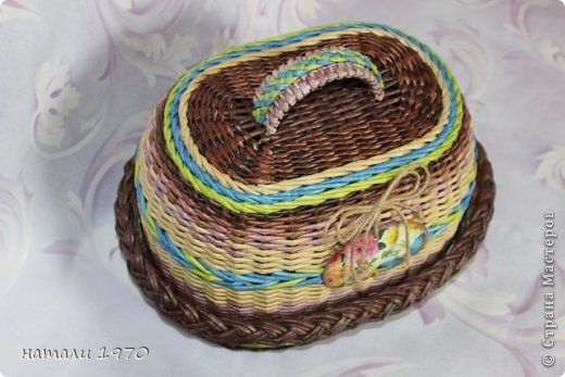 Поделка изделие Плетение Немножко накопилось       Трубочки бумажные фото 9