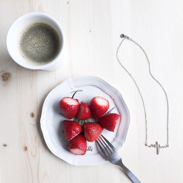 The Heartbeat Necklace #butfirstcoffee