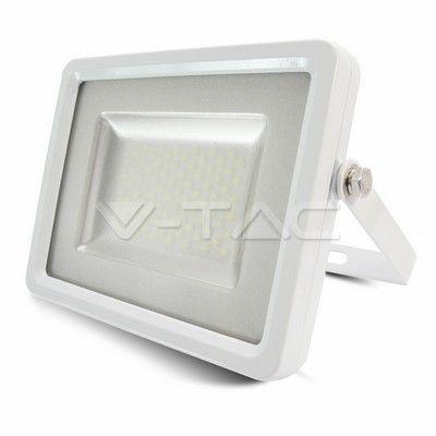 100W Proiettore LED Lumen Alto Corpo Bianco SMD Bianco naturale  SKU: 5741 | VT: VT-48104   100W Proiettore LED Lumen Alto Bianco SMD Bianco  SKU: 5742 | VT: VT-48104