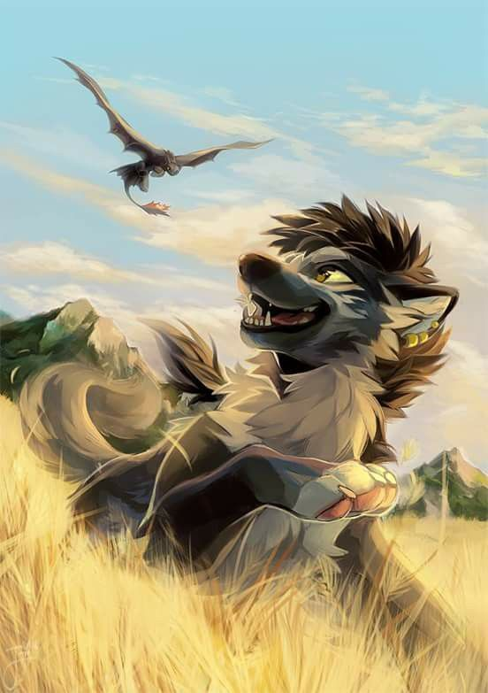 Toothless And Wolf Hiccup I Love It Animated