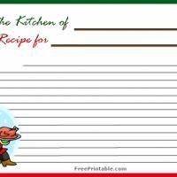 holiday recipe cards