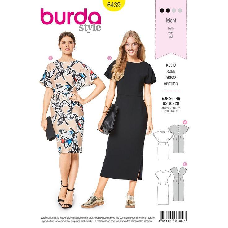Misses Dresses Burda Sewing Pattern 6439. Size 10-20.