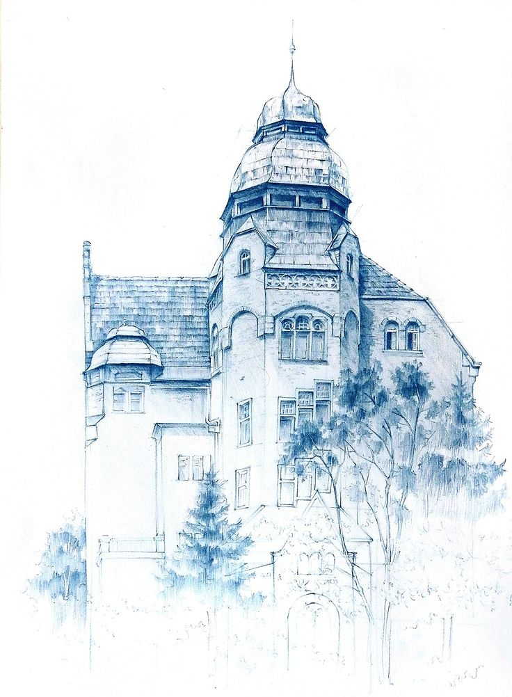 Poznan University of tehnology - plain air drawing by Anna Groblewska in DOMIN Poznan drawing school https://www.facebook.com/domin.poznan