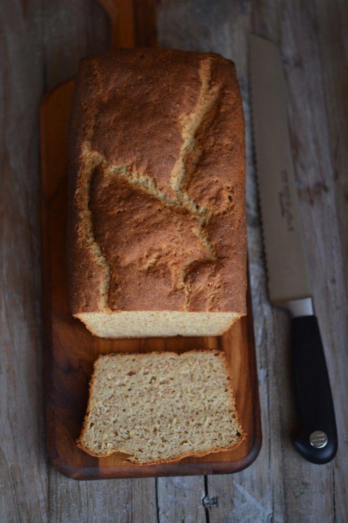 The BEST glutenfree brown bread- all-purpose gf flour, xanthan gum, whole grain teff, oat flour, cream of tartar, baking soda, sugar, yeast, salt, butter, shortening, apple cider vinegar, molasses, egg, milk