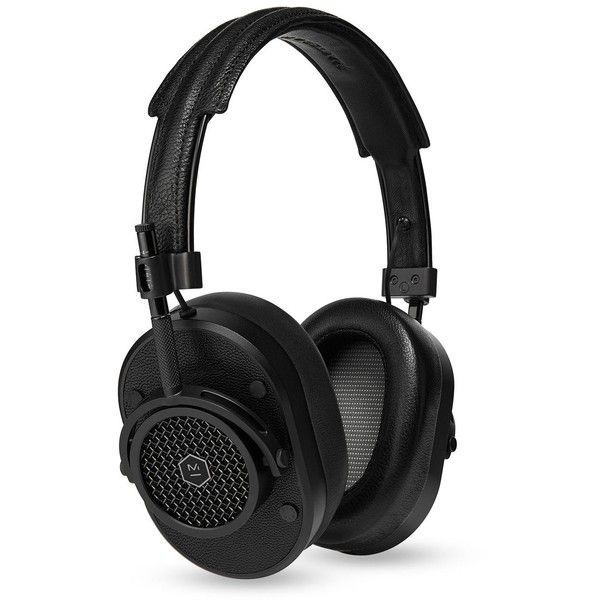 Master & Dynamic MH40 On Ear Headphones ($399) ❤ liked on Polyvore featuring men's fashion, men's accessories, men's tech accessories and black