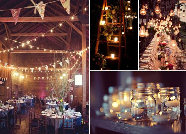 cozy wedding lighting